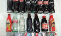 ~~~ CoCa-CoLa (CoKe) CoLLectiBLe 20pcs BoTTles & GLaSS