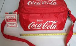 Coca Cola or Coke cooler bag. Can store 6 cans of