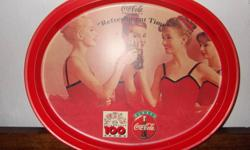 You are looking at a retro Coca Cola tray.   Was