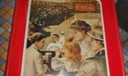 You are looking at a vintage Coca Cola tray depicting a