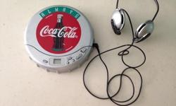 one used and good running cocacola laser dis player for