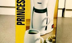 Princess brand coffee maker. Used once. As good as new