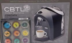 CBTL Contata brand new. Includes coffee capsules. Price