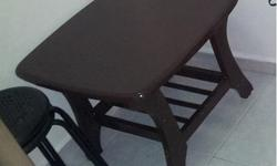 Coffee Table / Side Table. Dark brown color and square