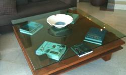 Coffee Table   Hand-Made Thai Teak with Glass Top