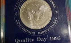 Memorabila of company relocated.1 dollar coin