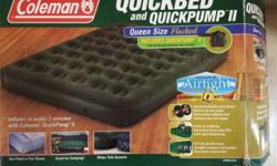 Queen size Air Bed with working pump and leak proof $30