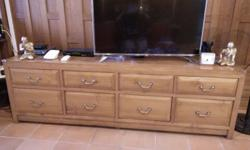Personal collection Solid teakwood TV console, size