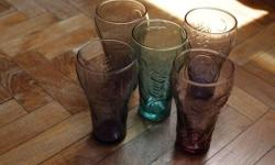 Never used, collectibles Coca Cola glasses. 5 pc.