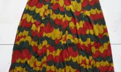 Colourful skirt, with brown inner liner (see 2nd