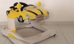 Combi baby walker in bright yellow, smart colour and
