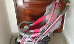 Good condition Combi Stroller, front swivel wheels.