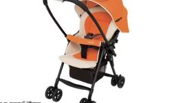 Compact combi baby stroller with single hand open,