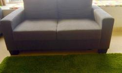 Hi guys, Comfortable two seater sofa, color gray, I'm