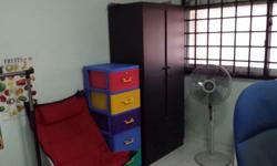 Common room for rent with Bed, Wardrobe, Computer table