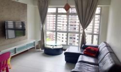 High Floor, Clean, Furnished 4 Rooms Flat for Rent.