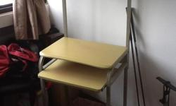Good condition portable computer desk Shelf pulls out