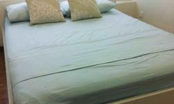 Modern, queen bed frame, European size, good condition,
