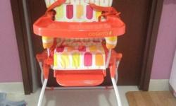 cosatto slim jim foldable high chair in very good