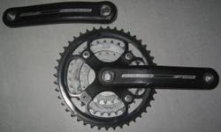 Crankset with 44-32-22T triple chainring for mountain