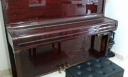 Cristofori piano with headphone for silent option. Can