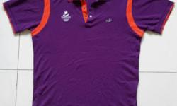 Crocodile brand. Youth Olympic polo t-shirt. Purple