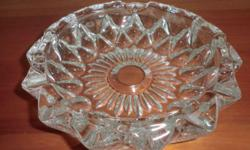 "Beautiful Crystal Ash Tray. Dia -7"" thickness of"