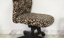 Custom Made Leopard Print Office Chair. Condition: