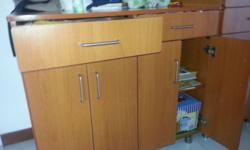Custome Made wooden Cabinet. Having two drawers and two