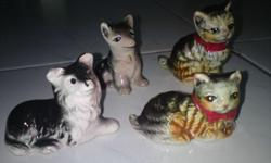 Cute Porcelain Cats & Dogs Collectibles - $10 each