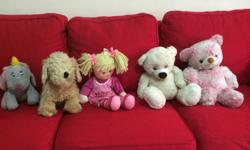 Pre-loved soft toys in good condition for sale. Only