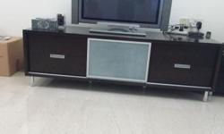 Dark brown tv cabinet for sale.