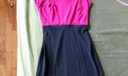 Dark Pink and Black Dress Condition: 9/10 Length: 72