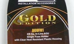 BRAND NEW DB LINK AGUFH1 GOLD EDITION fuse holder for