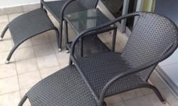 Deck furniture very lightly used, weather resistant and