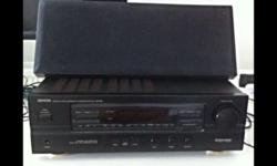 Denon amp with center speaker all in good condition..