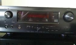 A set of Denon AV SURROUND RECEIVER MODEL: AVR-1610.
