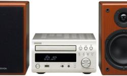 A Denon M37SCW CD and Radio player with input for an