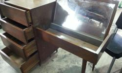 description 1960 teak wood dressing table. singapore