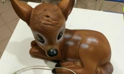 Super smart bambi lamp for a classy kid's room