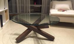 A modern designer replica Eames style coffee table for