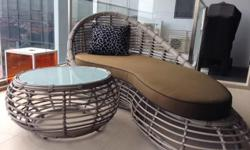 Designer garden furniture available - 3 loungers (