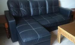 Modern Designer Sofa L-shaped Half leather Bought Near