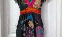 Interesting and Colourful V Neck Dress from DESIGUAL.