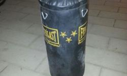 EVERLAST PUNCHING/HEAVY BAG Used a couples of times &