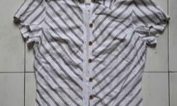 Diagonal brown stripes blouse. Good condition. See 2nd