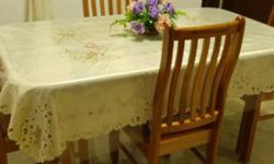 Seldom used. Very good condition. Wooden table and