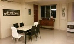 Dining table with marble top, 6 chairs (1year old) Very