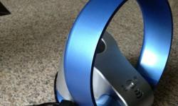 Bladeless 12 inch fan blue in colour Easy to clean and