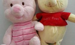 The baby piglet and baby winnie the pooh. They are both